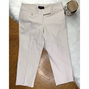 TALBOTS Capri Cropped Tan Stretch Dress Pants